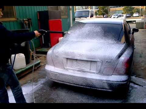 shampoo foam spraying for self car washing
