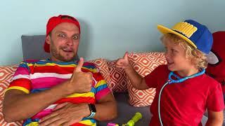 ليف وأبيه في قصة عن مدى أهمية غسل اليدين / Pretend play