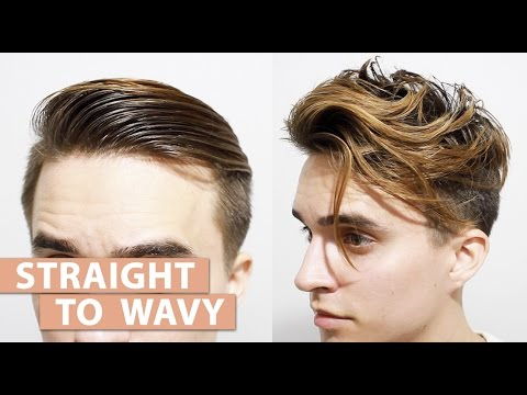 how to style straight hair men to wavy hair without using any products s 6148 | hqdefault