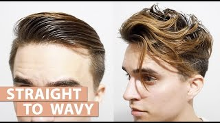 Straight to Wavy Hair without using any Products | Men's styling Tutorial
