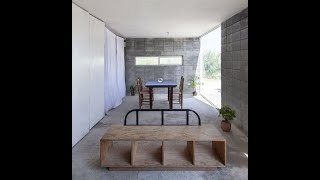 Modern Concrete Block House With Low Budget And Feasible Living Space Concept