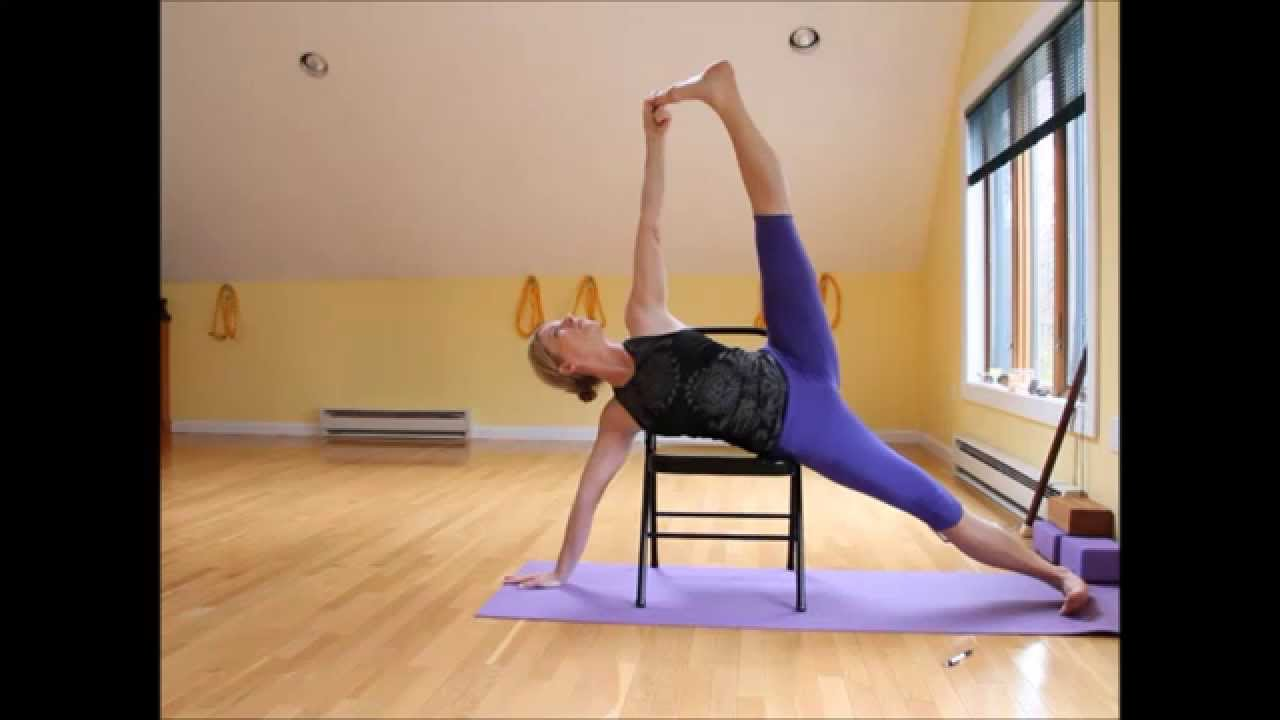 The Posture Chair Accent Green Vasisthasana Variation Using A - Youtube