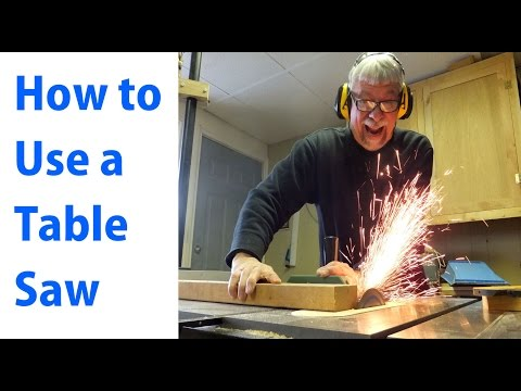 How to Use a Table Saw: Woodworking For Beginners #1 –  woodworkweb