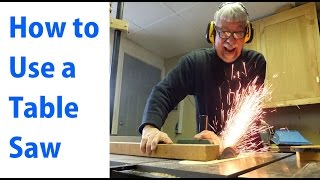 How to Use a Table Saw: Woodworking For Beginners 1 - by woodworkweb