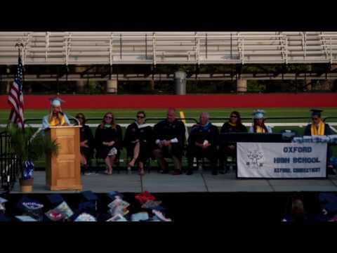 2016/2017 Oxford CT High School Valedictorian Speech