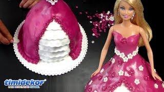 Barbie Doll Cake - HOW TO decorate a princess cake / Dort s panenkou