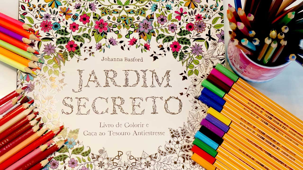 Jardim Secreto | Livro de Colorir Para Adulto e O Que Uso