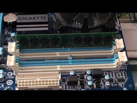 Правильная установка оперативной памяти компьютера.