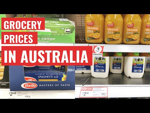 How much do groceries cost in Australia? Groceries shopping in Coles - Melbourne, Australia