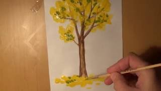 Как нарисовать Осеннее дерево. How to draw an autumn tree(Как просто нарисовать осеннее дерево. How to draw an autumn tree. !!! Регистрируйтесь в Фаберлик он-лайн goo.gl/G18uOH и покупа..., 2016-09-27T16:17:15.000Z)