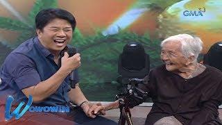 Wowowin: 100-year old na lola, pinasaya ni Kuya Wil