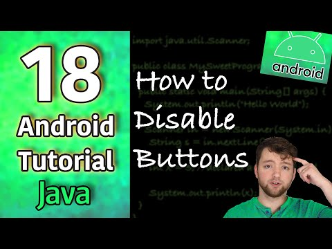 Android App Development Tutorial 18 - How To Disable Buttons (Top Secret Strategy) | Java