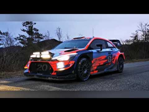Tests Hyundai I20WRC Pré-Montecarlo 2020 (Loeb-Neuville-Tanak)