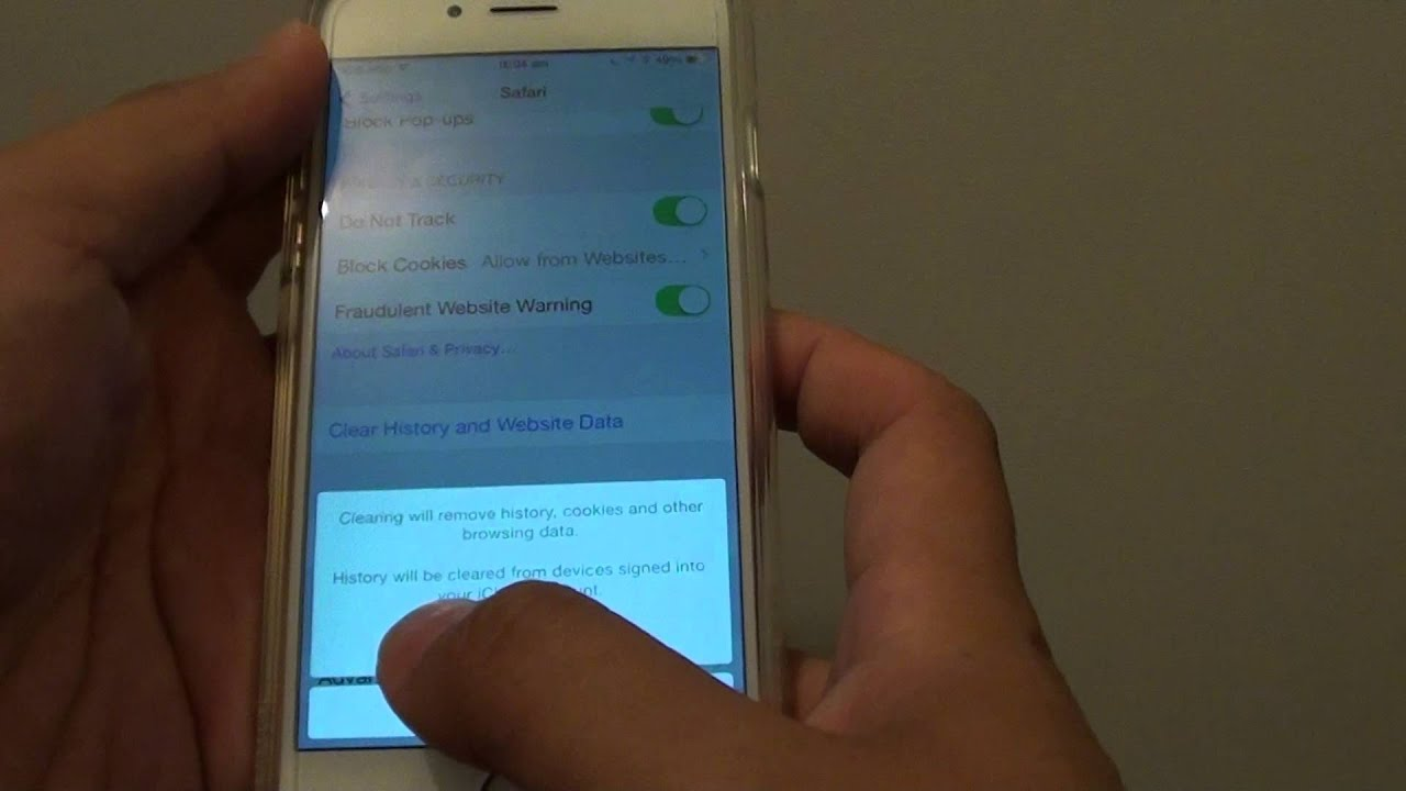 Iphone 6: How To Clear Safari History And Website Data