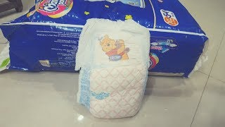 Unboxing and review of MamyPoko Pants Extra Absorb Diaper XL 54 Pieces