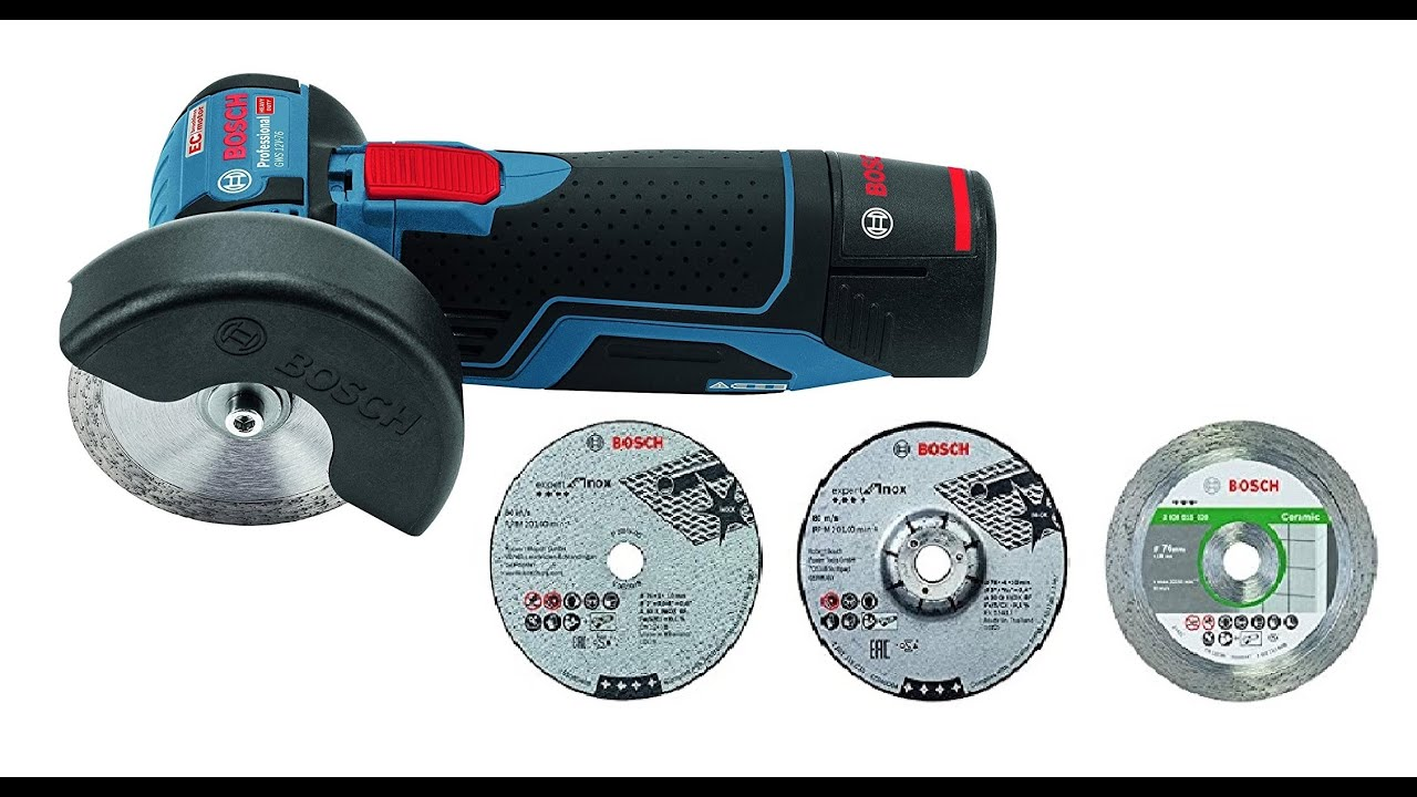 bosch gws 12v 76 cordless mini angle grinder unboxing and. Black Bedroom Furniture Sets. Home Design Ideas