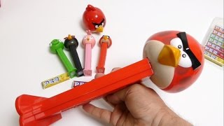 Giant Angry Birds Pez Dispenser - Red Bird Surprise Candy