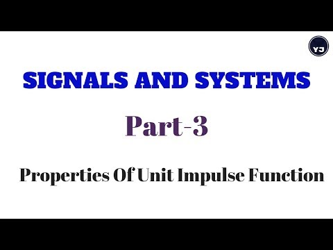 Signals and Systems|Properties of unit impulse function| Part-3|YJ Educations