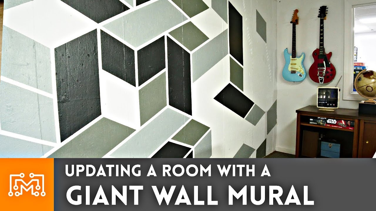 Updating A Room With Giant Mural How To I Like Make Stuff