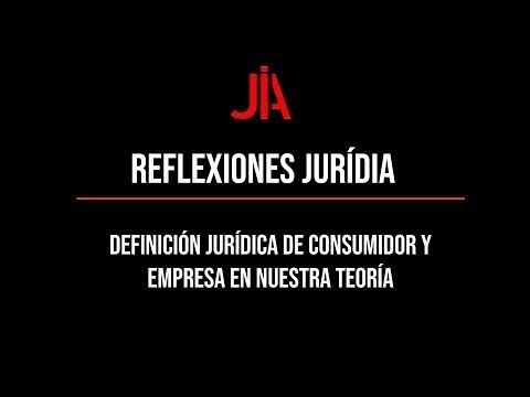 JURÍDIA  reflection on the legal definition of consumer and company in our theory