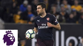 Arsenal's Sokratis scores consolation goal v. Wolves | NBC Sports