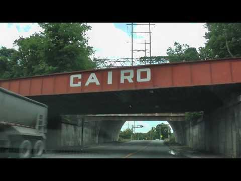 driving through Cairo, Illinois on U.S. 51 south