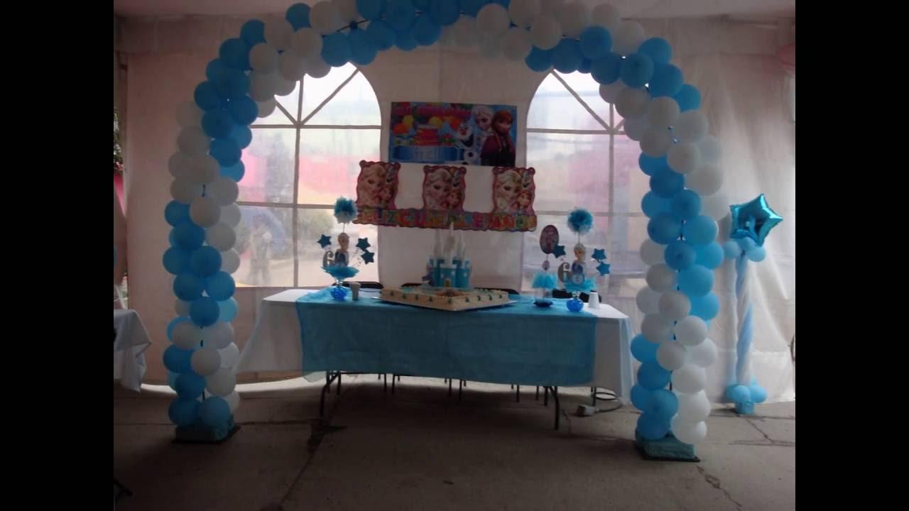centros de mesa elsa de frozen e idea decoracion para fiesta infantil nia youtube
