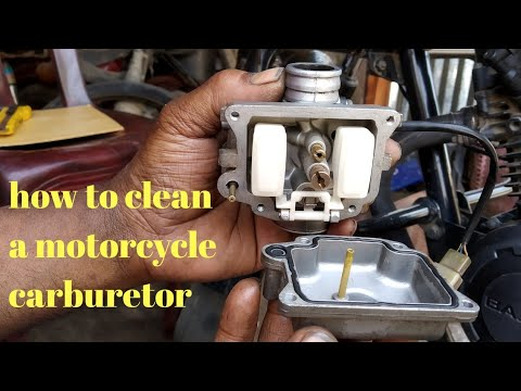 how to clean a motorcycle carburetor