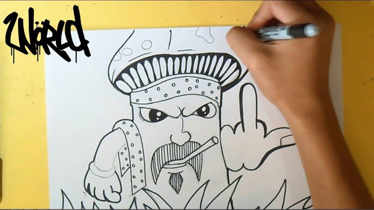 Cmo Dibujar un Hongo Cholo Graffiti  Wizard art  by Wrld