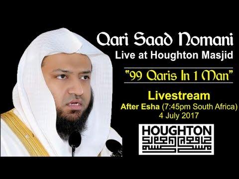 """Qari Saad Nomani - """"99 Qaris in 1 Man"""" - Houghton Masjid thumbnail"""