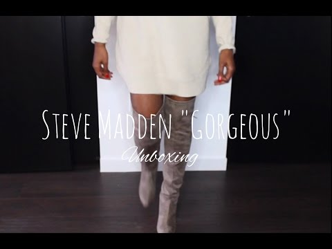 codicioso Acompañar montar  Steve Madden Over the knee Boots - YouTube