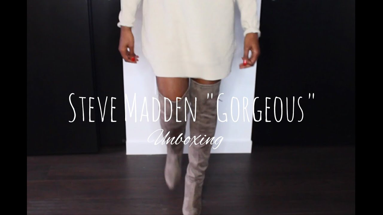 Steve Madden Over the knee Boots - YouTube
