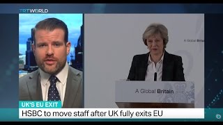 UK's EU Exit: May: HSBC to move some staff to Paris