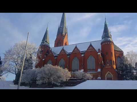 Driving in Turku, Finland.