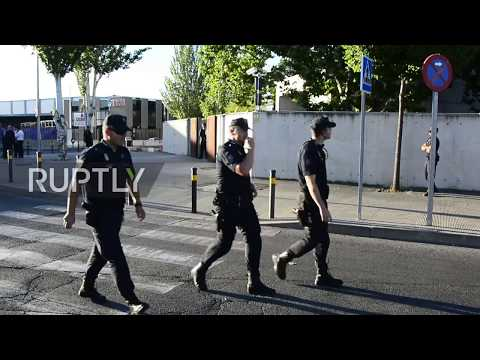 Spain: PM Rajoy arrives at court to testify in corruption case