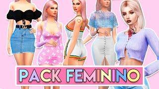 PACK DE ROUPAS TUMBLR    The Sims 4 (Collab com Izah Matheus )