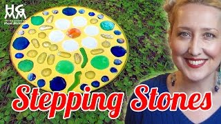 looking for a project to do with your kids? fun diy stepping stones