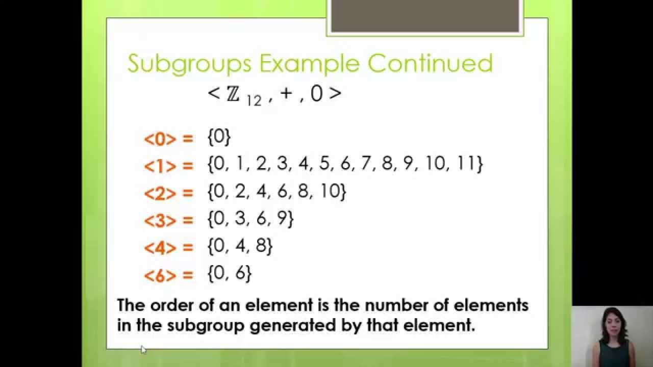 Groups The Subgroup Lattice