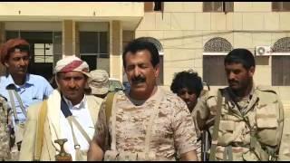 شاهد محافظ الجوف العميد حسين العواضي داخل المجمع الحكومي للمحافظة