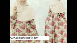 Model Baju Gamis Motif Bunga Terbaru By Gamis Syari Cantik