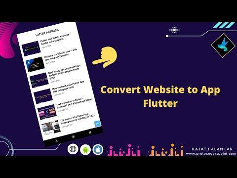 Flutter webview example - Convert Website to app - Flutter Webview tutorial
