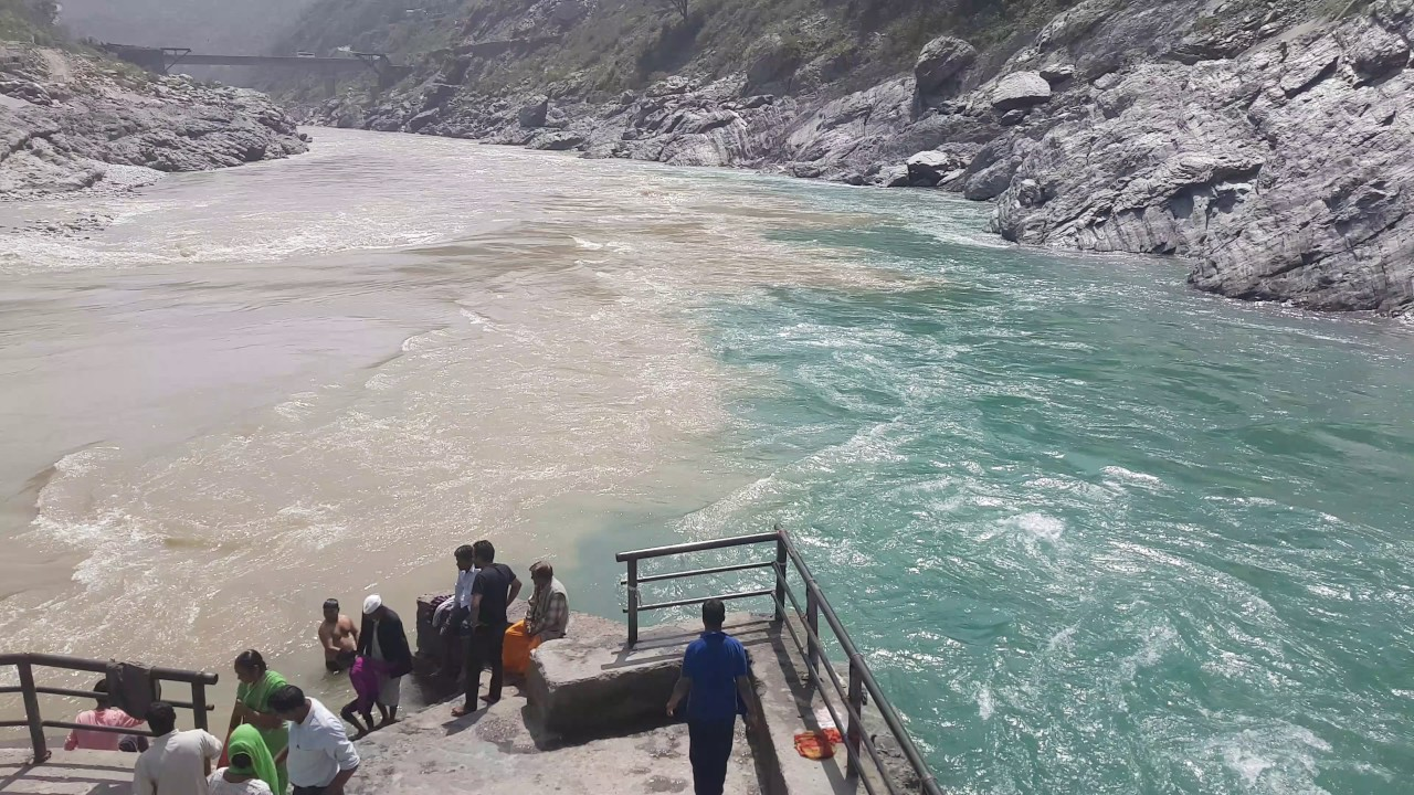 bhagirathi river and alaknanda meet at lake