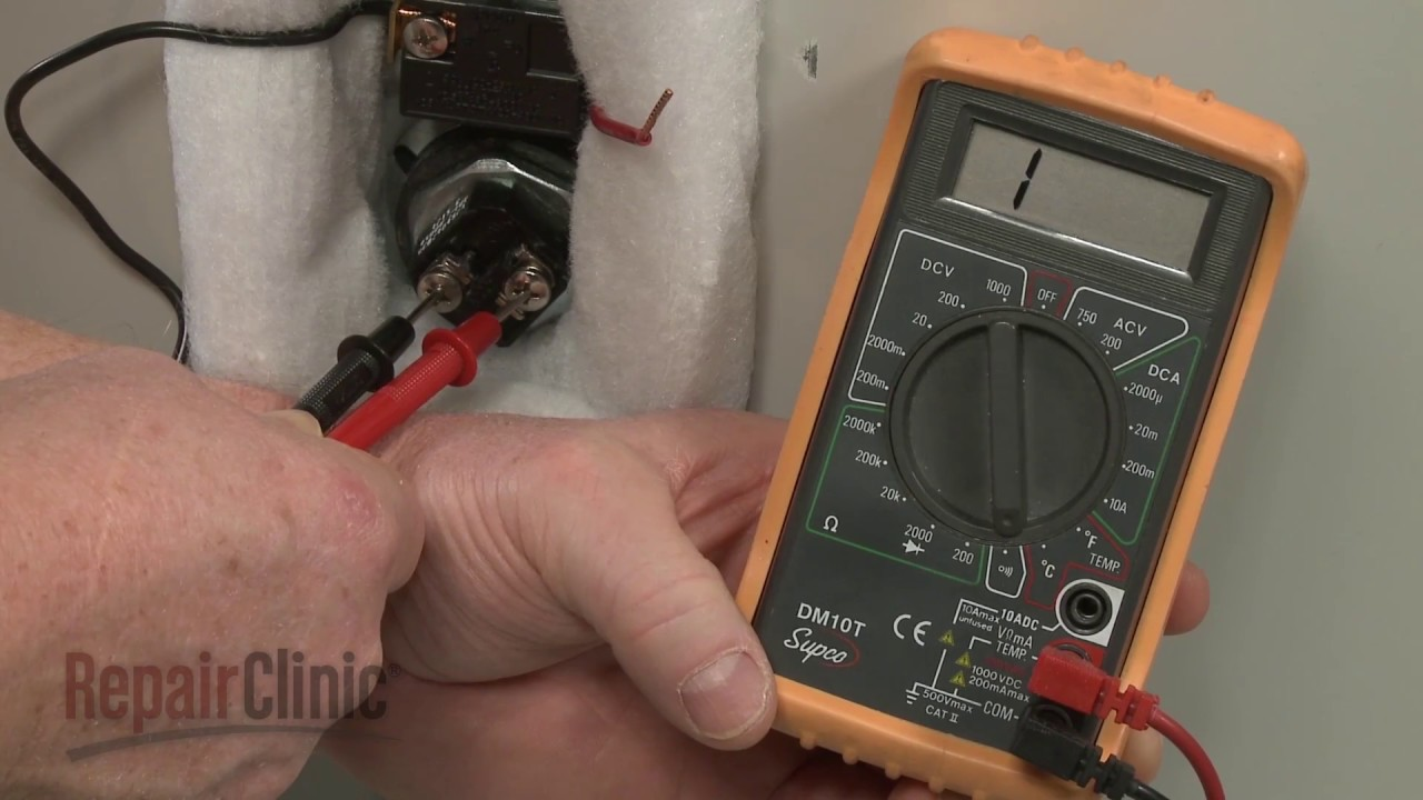 Water Heater Not Heating Element Testing Youtube Colemen 7 Wire Thermostat Wiring Diagram