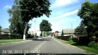 Езда по г.Столбцы 24-06-12 (timelapse 3x)