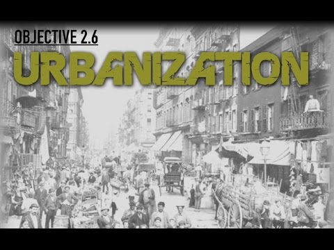 Objective 2.6- Urbanization