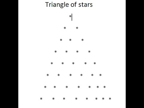 Triangle pattern in java part3