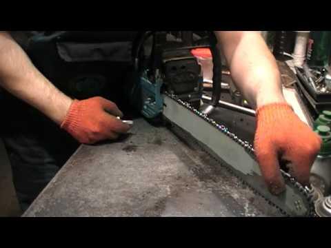 Как натянуть цепь в бензопиле хускварна