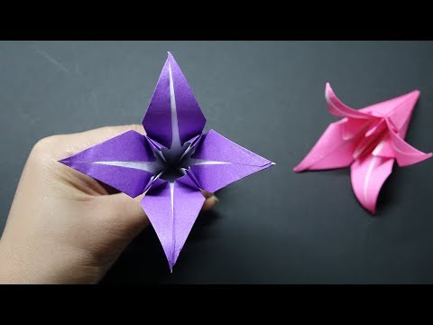 How to Make a paper Lily flower   DIY Origami Paper Crafts   Easy Origami