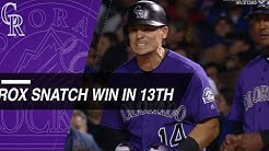 Rockies take Wild Card lead over Cubs in 13th