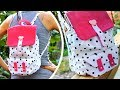 DIY BACKPACK TUTORIAL WITH POCKET DESIGN FROM SCRATCH STEP BY STEP